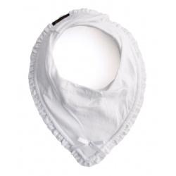 Babero bandana blanco.