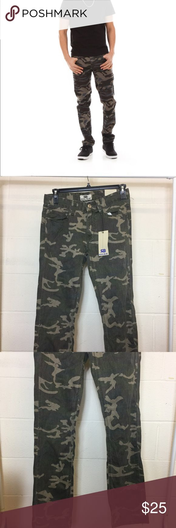 Camouflage Skinny Jeans New Royal Blue brand new skinny jeans. Summer camouflage color, size is 30x32. More detail see pictures. royal blue Jeans Skinny