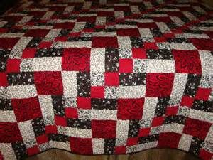 54 best Red and black quilts images on Pinterest   Knitting ... : black and white quilt patterns free - Adamdwight.com