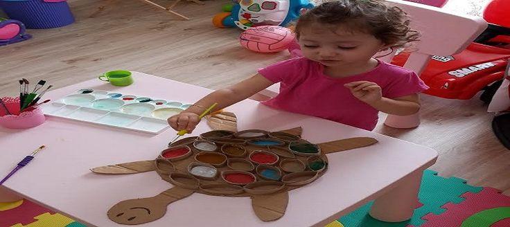 Fatma Ballı'nın küçük Picassolar yetişmesi temennisi ile evde kızı Begüm'e yaptırdığı kaplumbağayı sizler için hazırladık.