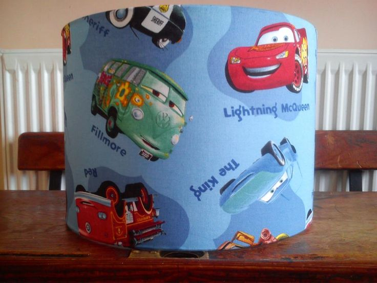Disney Cars fabric covered lampshade