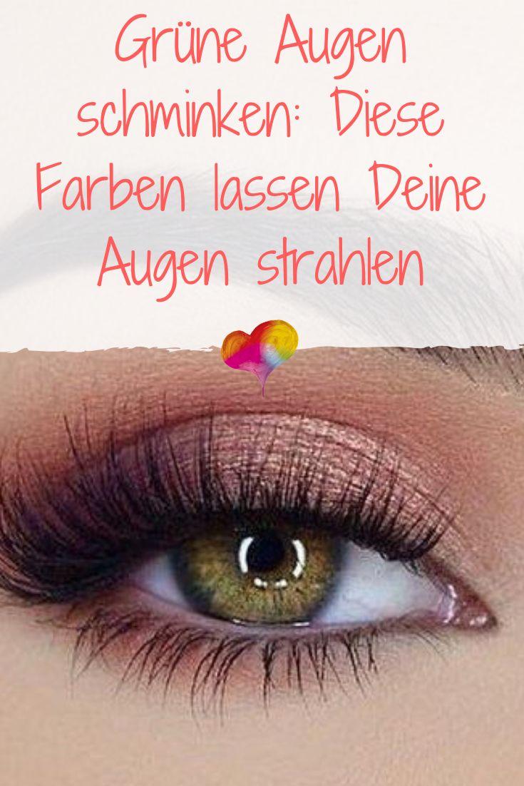 Grüne Augen schminken: Diese Farben lassen Deine Augen strahlen