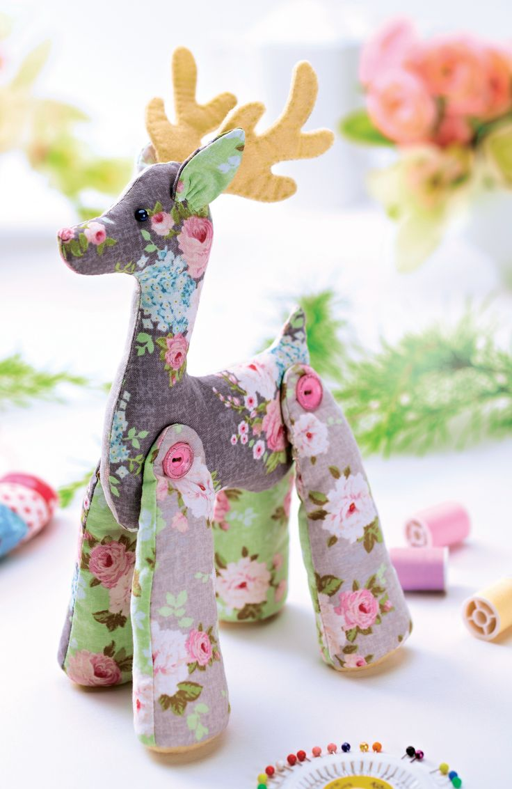Decorate your home this Christmas with our beautifully stitched reindeer