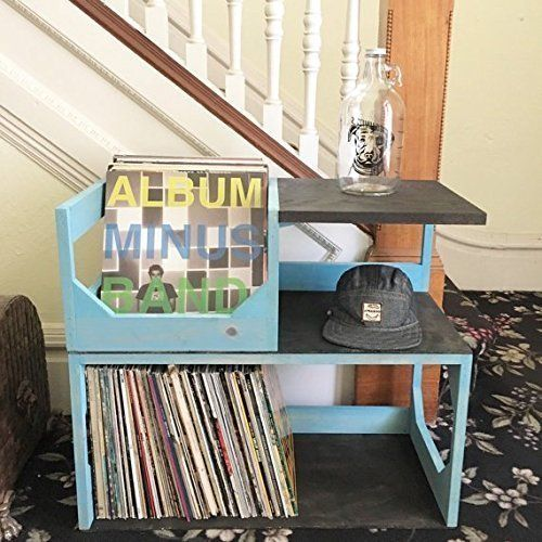 Vinyl Record end Table // Stash Your Wax and other items in style! Displays, Protects and allows easy access to your collection of over 250 * Read more  at the image link.