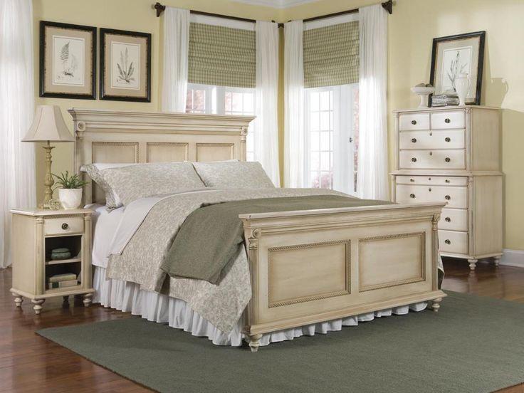 cream bedroom furniture setsDurham Furniture Savile Row 4 piece Panel Bedroom Set in Antique Cream AUuUTQak