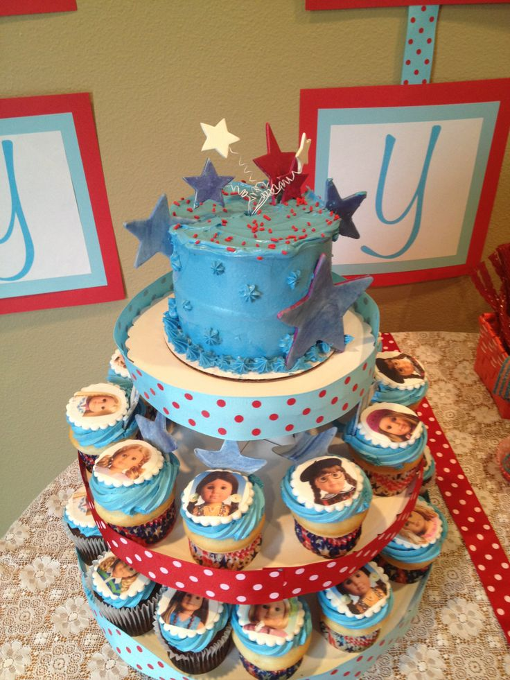 American Girl Doll Bday Party Cake Cupcake Ideas