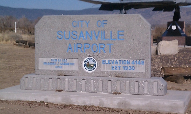 Susanville Airport Welcome Sign.
