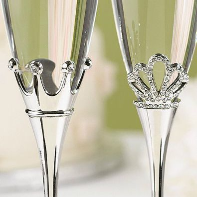 king and queen wedding theme | King and Queen Toasting Flutes - Fairytale Wedding Favors - Weddings ...