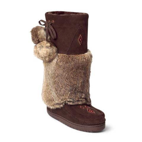 Snowy Owl Mukluk | Manitobah Mukluks I want this sooooo badly is the chocolate colour!!