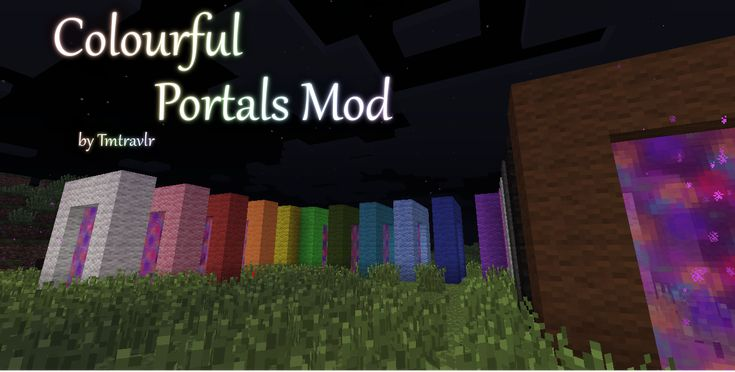 Colourful Portals Mod - v.1.4.3 - Minecraft Mods - Mapping and Modding - Minecraft Forum - Minecraft Forum