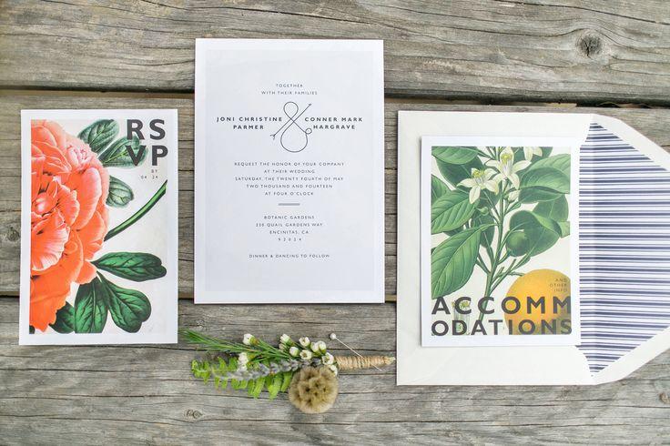 Joni Conner San Diego Botanic Gardens Wedding Formal Wedding Invitations Pinterest