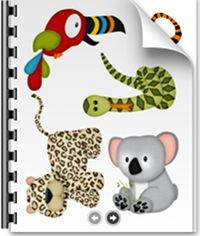 Adorable Zoo Printables (5 sheets) - perfect for magnets or stick puppets!