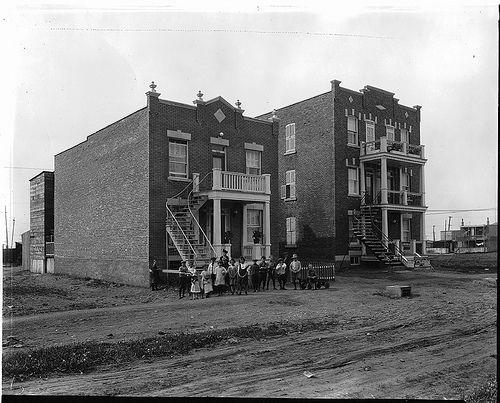 New triplex development, Montreal, QC, 1925