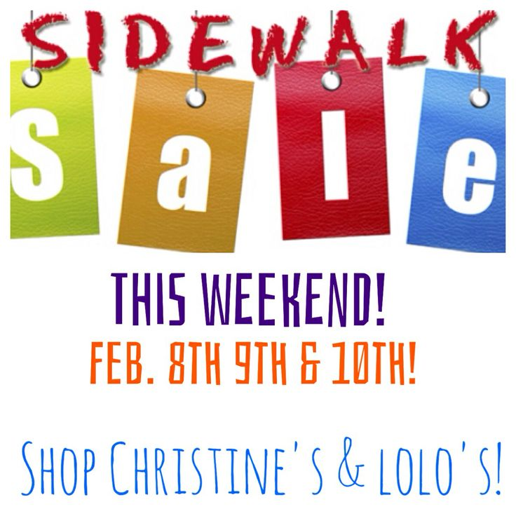 Best Sales This Weekend: 17 Best Images About Sidewalk Sales On Pinterest