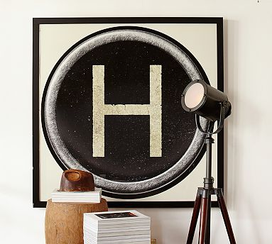 """Type Key Framed Prints #potterybarn 34x34"""" size for kitchen wall instead of a clock"""