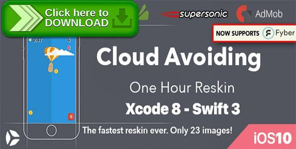 [ThemeForest]Free nulled download Cloud Avoiding – One Hour Reskin, IOS 10, Swift 3 Ready from http://zippyfile.download/f.php?id=40568 Tags: ecommerce, addicting, admob, app template, best code, cheap, fastest reskin, in app purchases, iOS 10, ipad pro, iphone7, iphone7 plus, level system, no ads, rebeloper, swift3