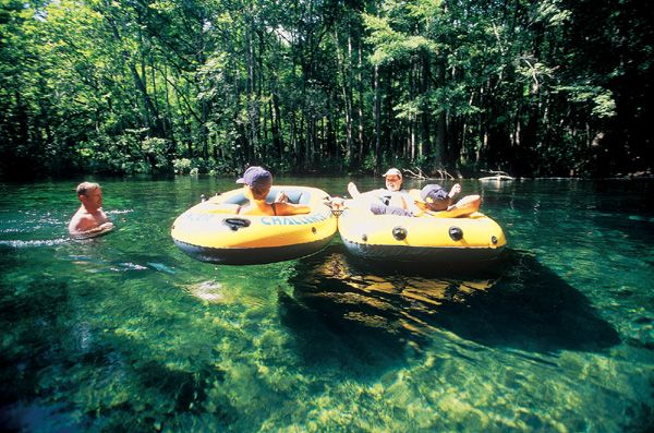 The beautiful Ichetucknee Springs in Florida.  A wonderful 4 hour float in crystal clear water.