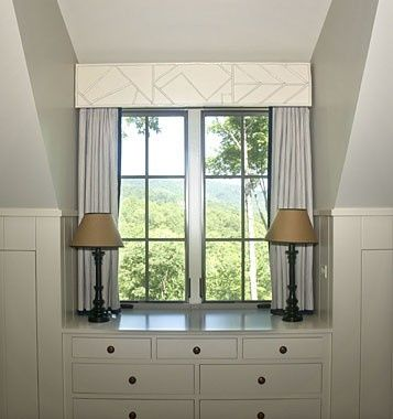 Cape Cod Style | The House that A-M Built. Small dormer is used beautifully for built-in storage.