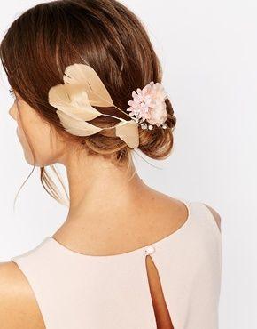 Erin Elizabeth For Johnny Loves Rosie - Una - Barrette fleur et plume