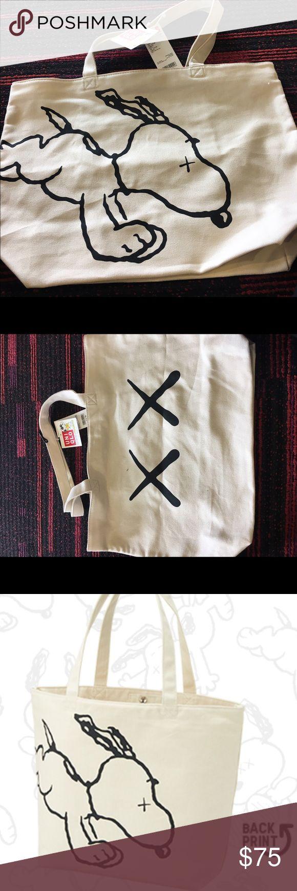 KAWS X Snoopy Tote bag Medium size brand new tote bag Uniqlo Bags