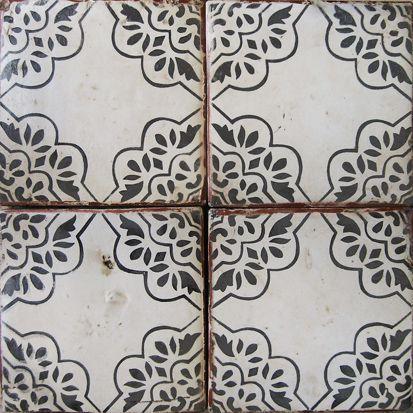 Vintage hand painted tiles. ~ Robyn Porter, REALTOR, Washington DC metro area 703-963-0142 #vintage #homedecor
