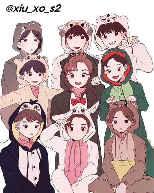 gambar exo, minseok, and fanart