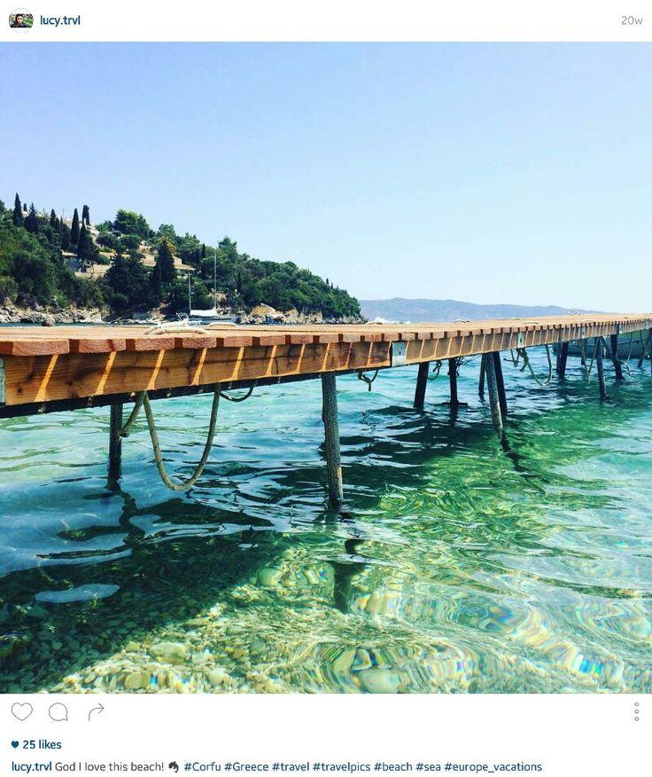 Turquoise waters at Kalami beach, Corfu, Greece ☆ #Greece #travel