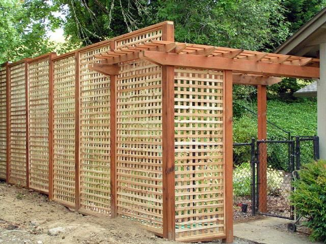 26 best images about fence scaping on pinterest lattice for Wood lattice trellis