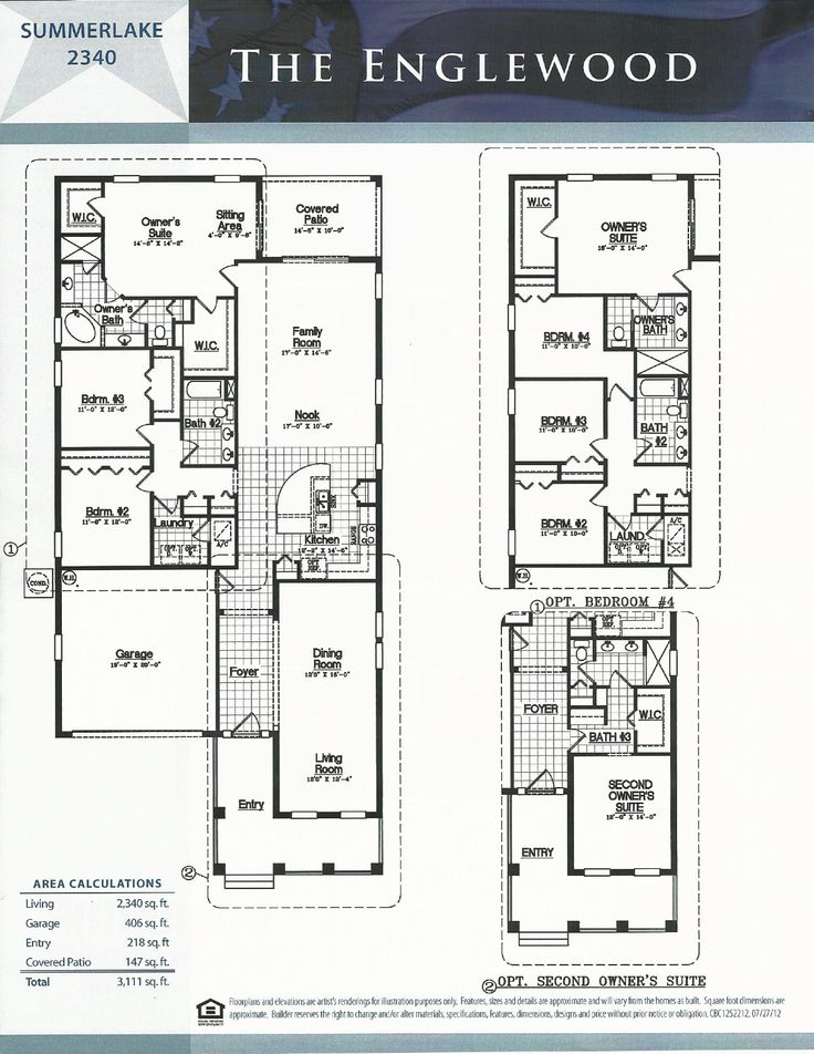 Summerlake dr horton homes englewood floor plan in winter for Summerlake house plan