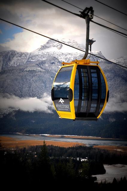 Gondola riding - Mount Mackenzie, Revelstoke