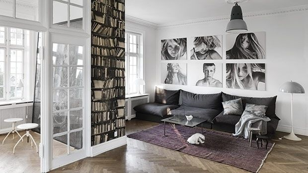 Print family portraits on canvas instead of framing | 32 Creative Gallery Wall Ideas To Transform Any Room