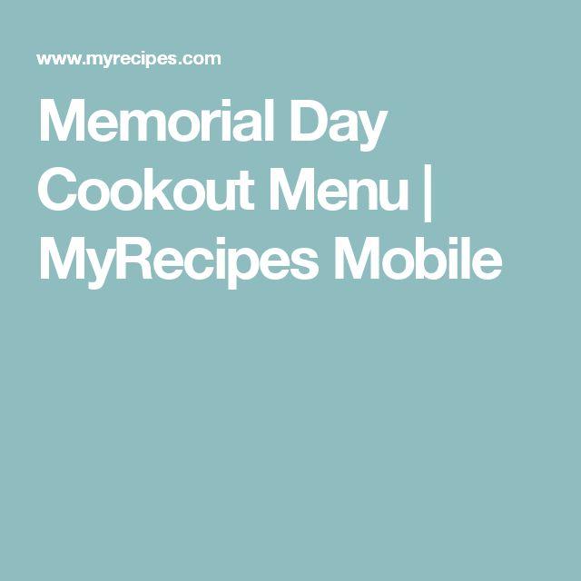 Memorial Day Cookout Menu   MyRecipes Mobile