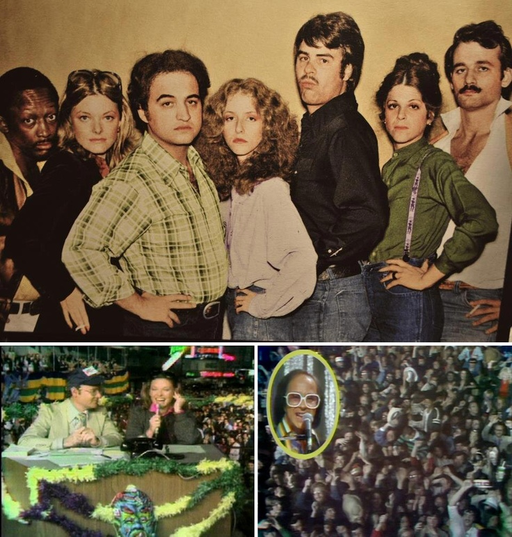 "1976-77: The second season of NBC's Saturday Night Live — ""The Not Ready For Prime-Time Players"" included (from left): Garrett Morris, Jane Curtin, John Belushi, Laraine Newman, Dan Aykroyd, Gilda Radner & Bill Murray. On February 20, 1977 the show travelled to New Orleans for a special ""Live from Mardi Gras"" episode — the only time in the history of the series that it was not broadcast from New York."