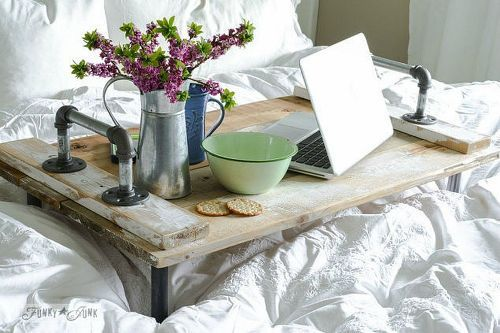 Recycle Old TV Trays ~ Move the Tray to Your Bedroom