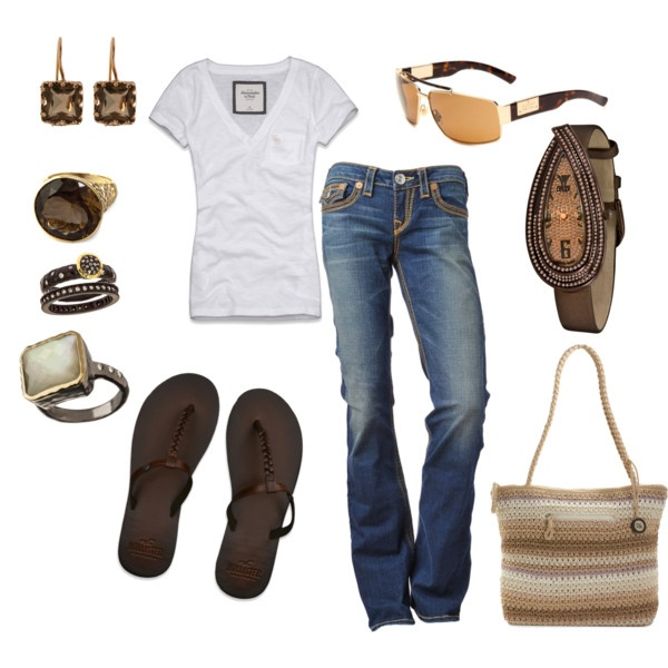 Outfit: Weekend Outfit, White Tees, Summer Outfit, Chocolates Diamonds, Flip Flops, Casual Outfits, T Shirts, Smokey Quartz, My Style
