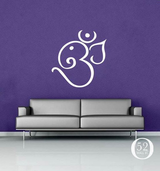 ganesh om wall decal vinyl decor52wallst on etsy, $29.00