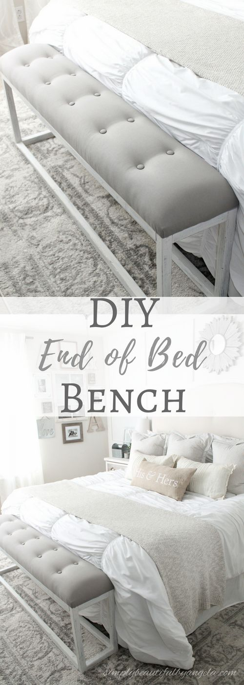 Awesome Simply Beautiful By Angela: DIY Simple End Of Bed Bench