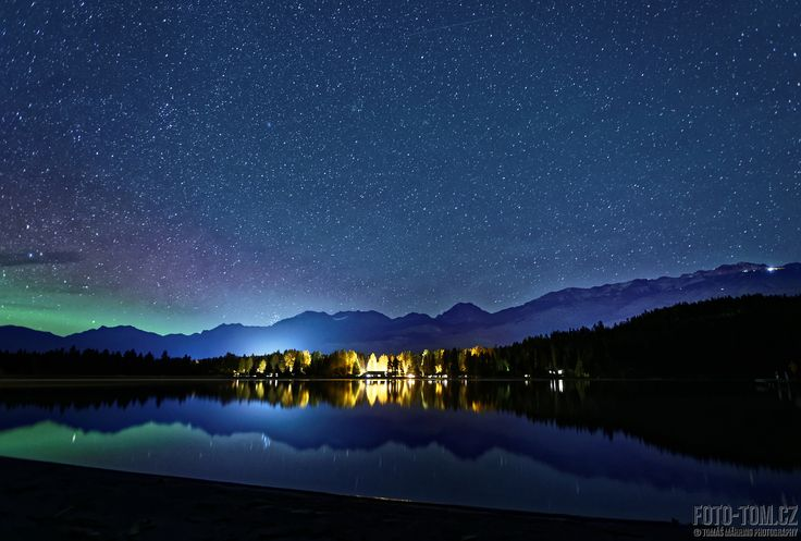 Aurora in Whistler, Canada - Greets from Whistler. We were so lucky to see this beauty few days ago during our wild camping. It was unfortunately not possible to see it by eye, we realized it right after shooting. And Whistler's news confirm it, that was AURORA, not only light pollution :-)