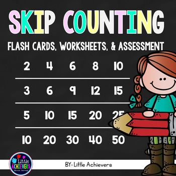These practice sheets are great for your students to master skip counting and number patterns. Inside the packet, you'll find fun worksheets, assessment cards, writing cards, and a mini booklet for your students to practice skip counting.