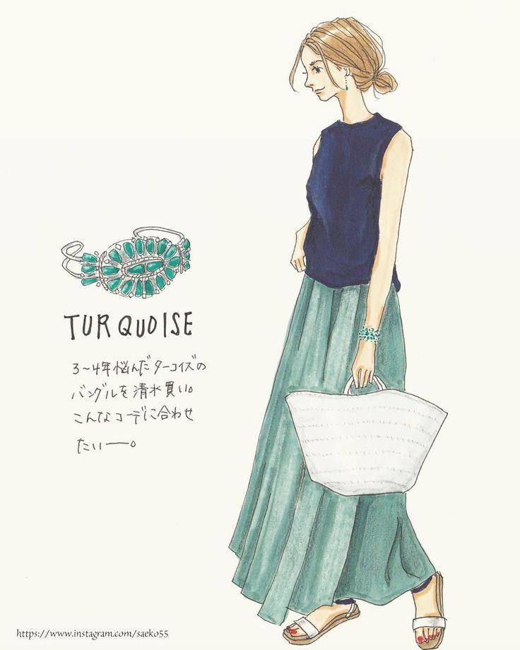 10.3K 個讚,120 則留言 - Instagram 上的 saeko(@saeko55):「 . こんなコーデしたい。 マキシスカートを探しに行かねば♀️ . いつもいいねやコメントありがとうございます♀️… 」