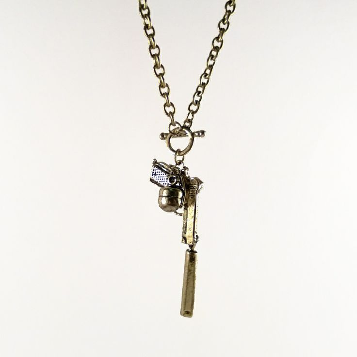 Mint Mouse - Guns & Grenades Necklace. A killer accessory! Jewellery with a twist, a little quirky, a tad geeky, super cute or retro and vintage inspired.