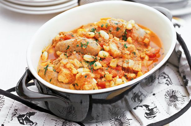 Slow-cooked sausage and bean casserole recipe - goodtoknow