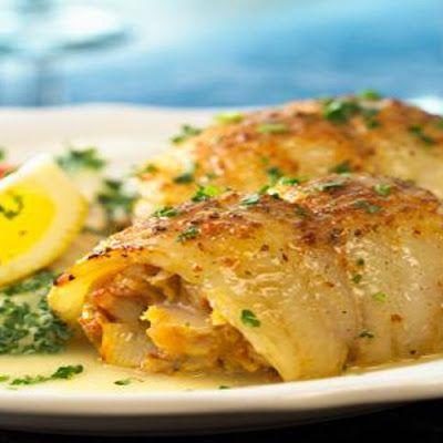 Crab Stuffed Flounder @keyingredient #bread