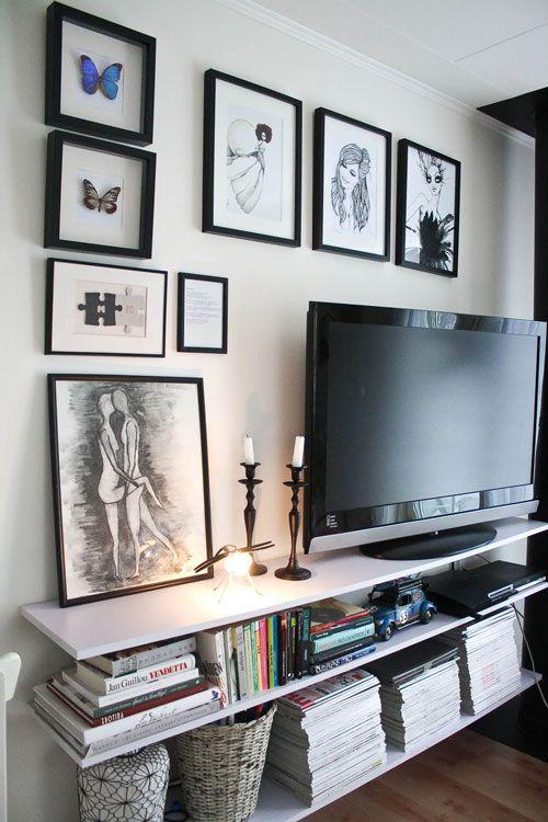 Blog Achados de Decoração: ONDE COLOCAR A TV: muitas idéias super interessantes para sua sala