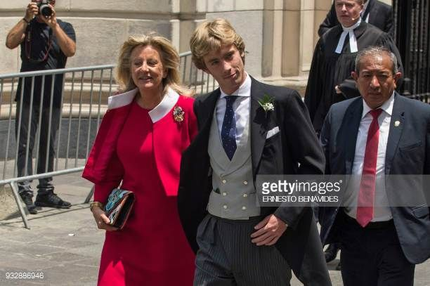 Prince Christian Of Hanover Arrives Next To His Mother Chantal