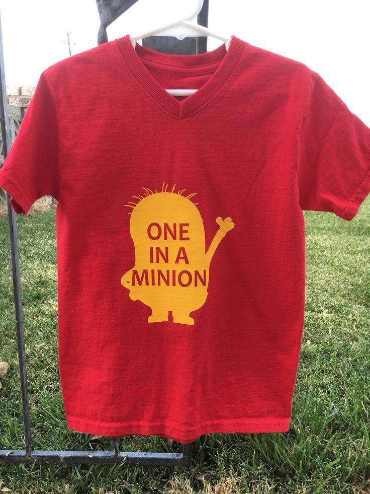 Kids Minion shirt, One in a Minion, Custom Minion shirt by PrettyMooLaLa on Etsy