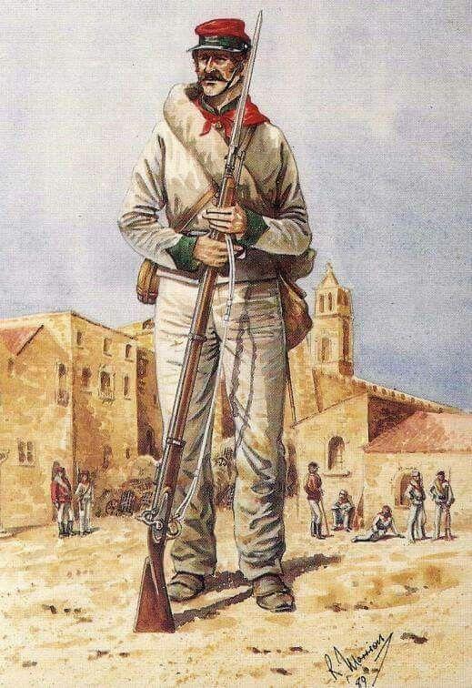 British Volunteers with Garibaldi in his 1869 Sicilian campaign