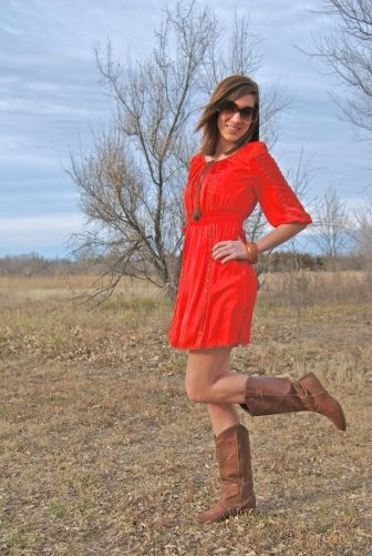 Boots and dress