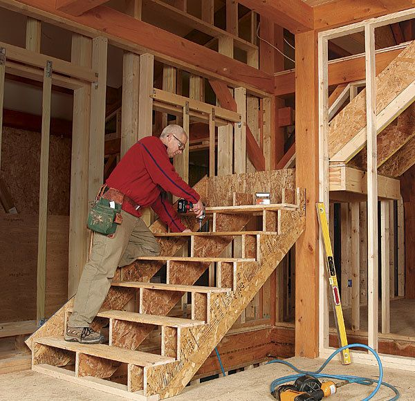 Best Framing Stairs With A Landing Fine Homebuilding 400 x 300