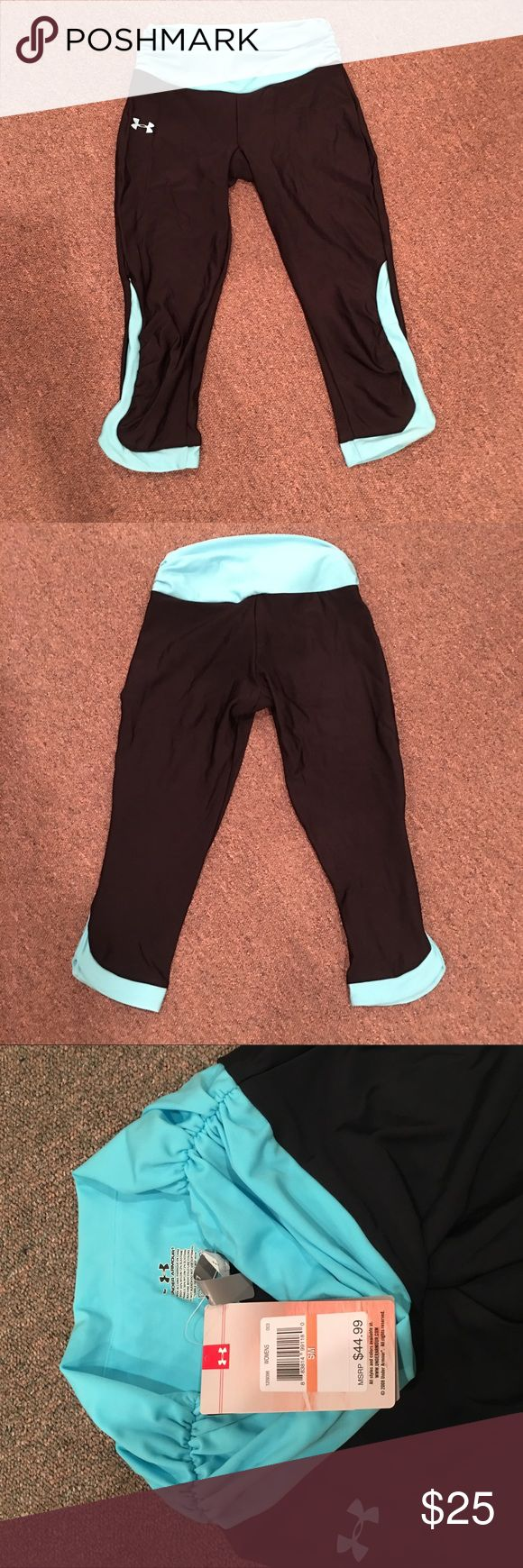 NWTs Under Armour heatgear compression capris! These are amazing quality and brand new!! These are perfect for working out, wicking sweat away from the body!  Get your body feeling great, while looking great!  Let me know if you ha e any questions! Under Armour Pants Capris